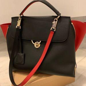 Salvatore Ferragamo Top Handle Black & Red Handbag